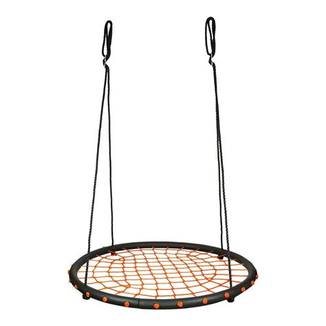 swing round 100cm orange round spider web nest swing heavenly hammocks