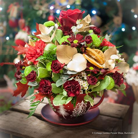 Christmas Teacup The Cottage Garden Flower Shop Cottage Garden Flower Shop