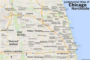 Chicago Detroit Map by Judgmental Maps Chicago Northside Il By An Edgewater