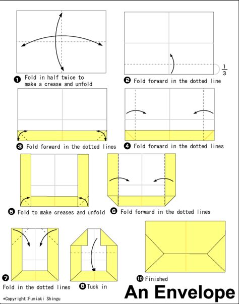 Make An Origami Envelope - a4 envelope fold crafty origami envelope