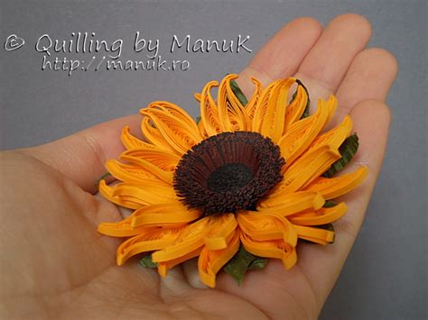 quilling sunflower tutorial quilled sunflowers in a vase 3d quilling artwork