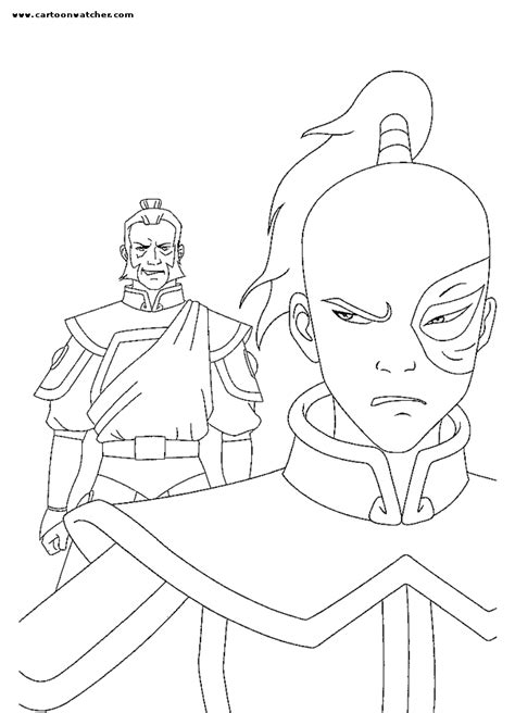 prince zuko coloring page avatar the last airbender