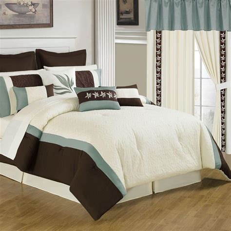 cream queen comforter sets lavish home reversible green navy down alternative queen