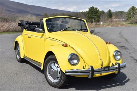 yellow volkswagen convertible excellent 1968 volkswagen beetle convertible