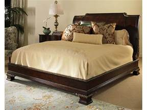 King Size Bed Century Furniture Bedroom Platform Bed With Bun Foot And Veneer Headboard King Size 6 6 309 186