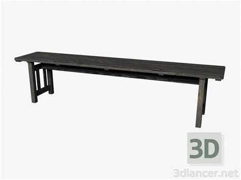 3d bench 3d model bench dark manufacturer ikea id 16406
