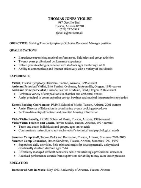 Musician Resume by Sle Experience Musician Resume Http Exleresumecv