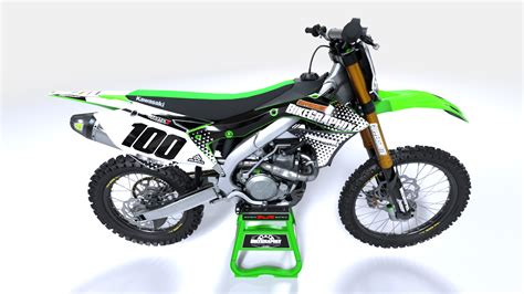 customize motocross kawasaki pyramid semi custom motocross graphics bikegraphix
