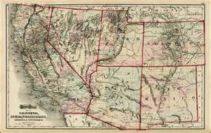 gray s atlas map of california nevada utah colorado
