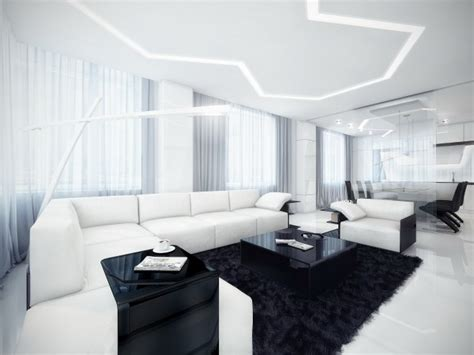 Interior Design White Living Room by Black And White Contemporary Interior Design Ideas For