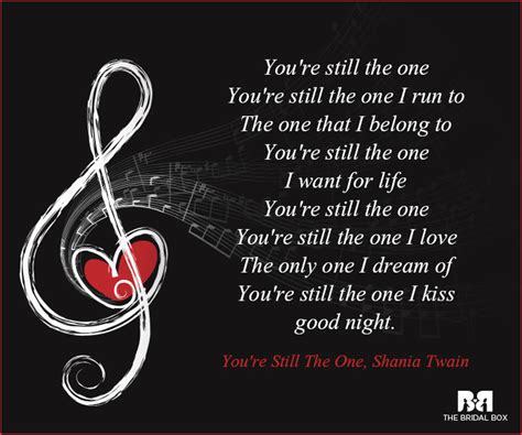 theme song you re still the one say i love you with these 11 music love quotes