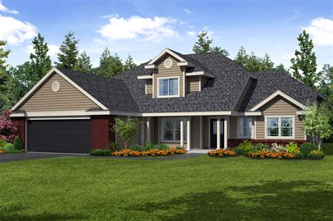 new home traditions traditional chivington house plan suits a busy family