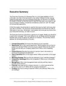 doc 10241325 executive summary sle template executive