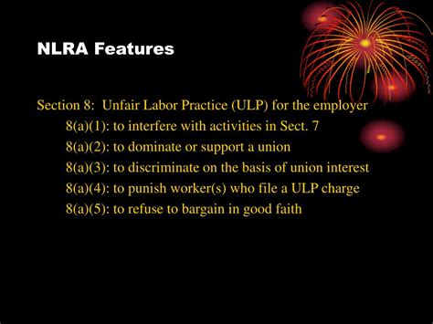 Nlra Section 7 Rights by Ppt History Of Collective Bargaining In The United