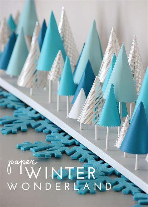 paper winter decorations paper winter decor