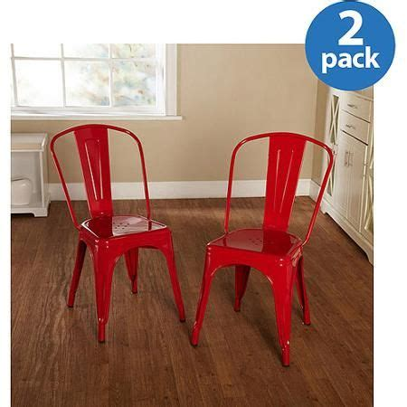walmart outside table and chairs milan metal chair set of 2 colors walmart com