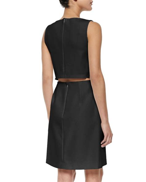 Nm Rdr Dress Cutout theory emison crepe cutout sheath dress