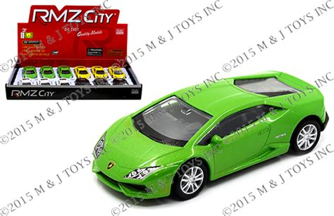 Rmz City Lamborghini Huracan Lp610 4 Kuning rmz city display 3 quot lamborghini huracan lp610 4 mj toys inc