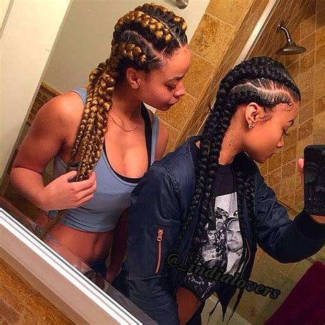 nigerian straight back braids styles pics squad shxt sisters india crystal westbrooks braid straight