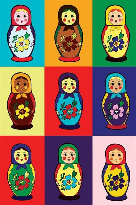 russian doll lesson pattern with matryoshkas russian nesting dolls folk