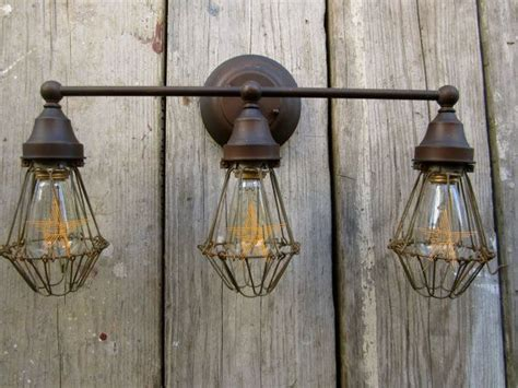 Edison Vanity Light Vintage Industrial Barn Vanity Light Edison Bulb Trouble Cage Vintage Bulbs And The O