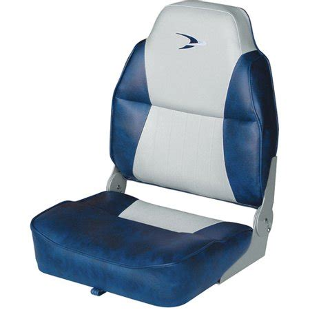 wise high back boat seat with logo wise lund style embroidered logo high back padded boat