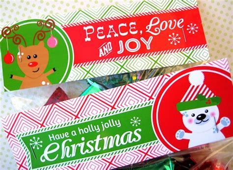 printable christmas treat bag toppers 8 best images of free printable treat bag toppers free