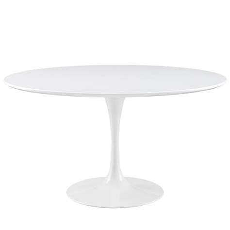 brilliant white table modern furniture brickell collection