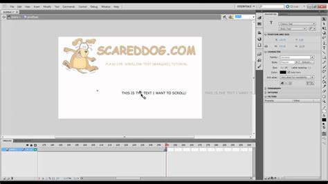 flash tutorial text scrolling text marquee flash cs5 youtube