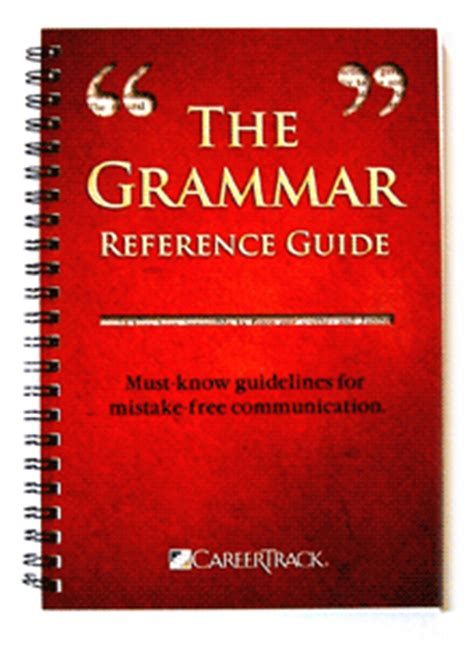 reference books grammar punctuation the grammar reference guide a grammar book fred pryor