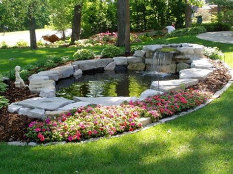 Backyard Pond Landscaping Ideas 17 Best Ideas About Back Garden Waterfalls On Pinterest Garden Waterfall Diy Waterfall And