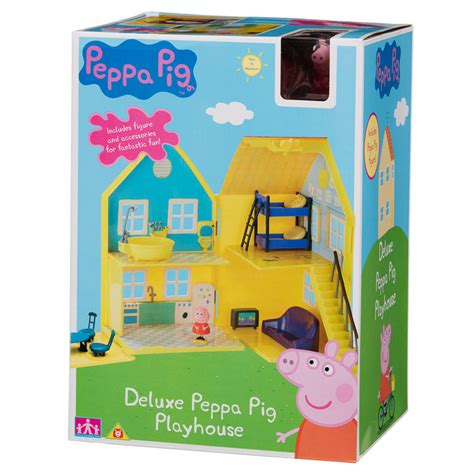 peppa pig deluxe playhouse play sets toys kids
