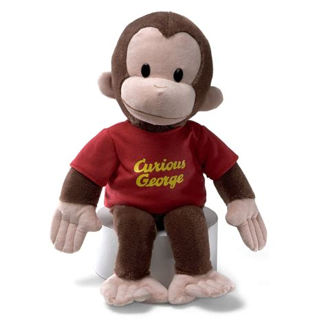 gund curious george stuffed animal 16 inches brand new
