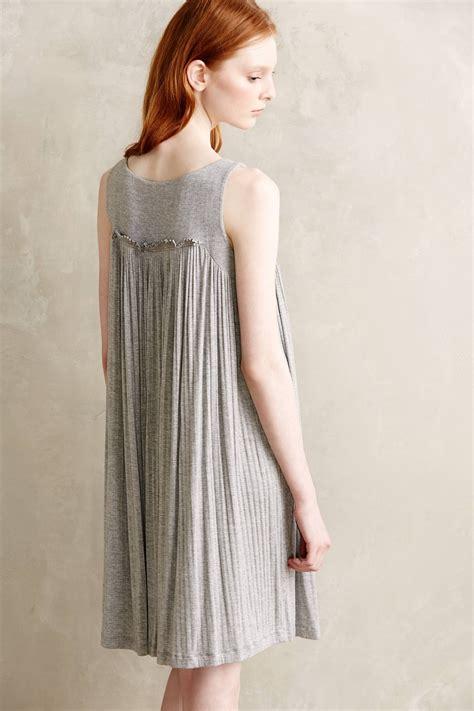 anthropologie swing dress anthropologie solana swing dress in gray lyst