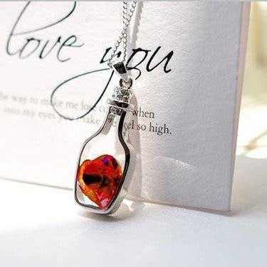 Kalung Wanita White kalung liontin wanita wishing bottle pendant