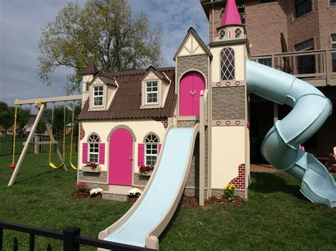 backyard castle playhouse think spring with this adorable castle playhouse lilliput play homes custom