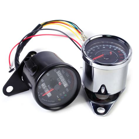 Led Speedometer Motor universal motorcycle tachometer motor led backlight signal light speedometer ebay