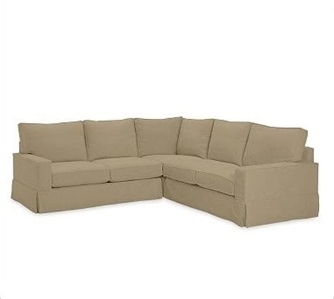 3 piece sectional slipcovers pb comfort square arm 3 piece l shaped sectional box