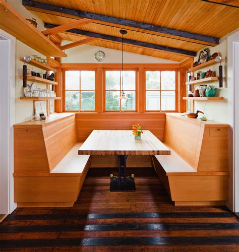 kitchen booth ideas inspired banquette bench in kitchen eclectic with