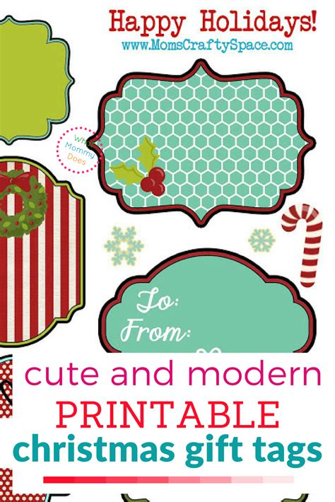 printable christmas gift tags  mommy