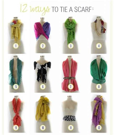 12 easy ways to tie a scarf diy hairstyles