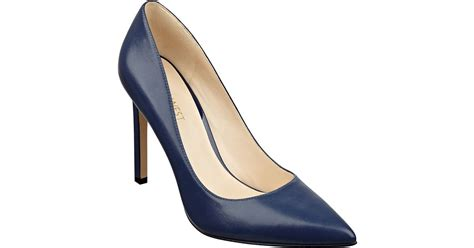 Nine Wests Blue Savona Leather by Nine West Tatiana Leather Pumps In Blue Lyst