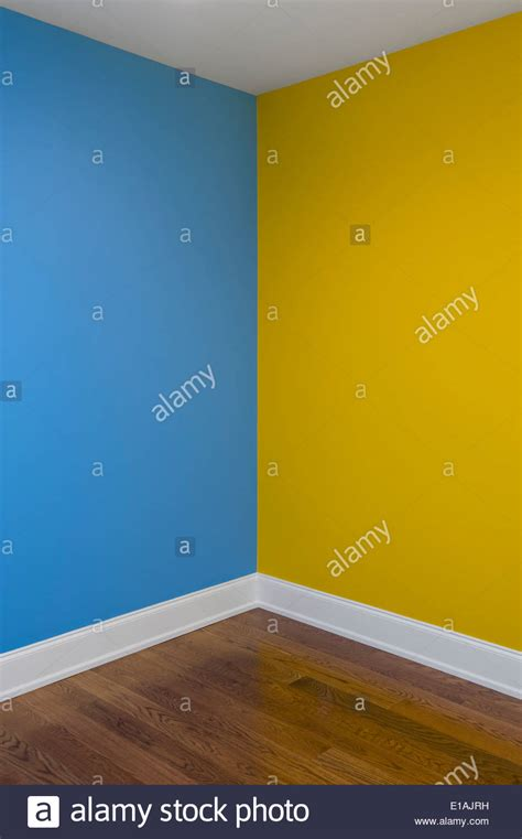 corner of room with walls painted two different colors stock photo royalty free image 69690421