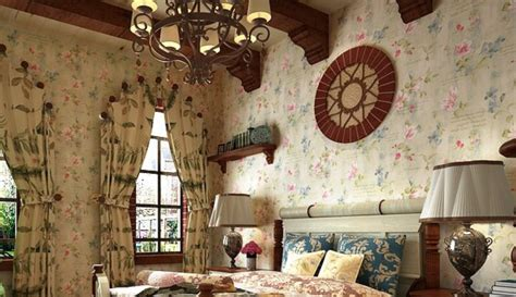 country style wallpaper retro country style wallpaper and pastoral curtain at new