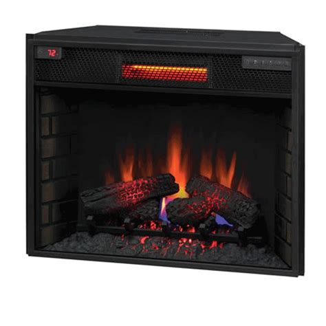 classic 28 electric fireplace insert with infrared