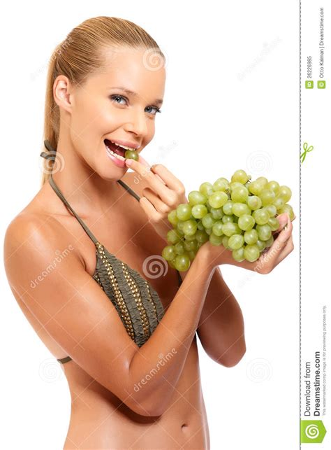 ate grapes enjoys some grapes royalty free stock photo image 26226985