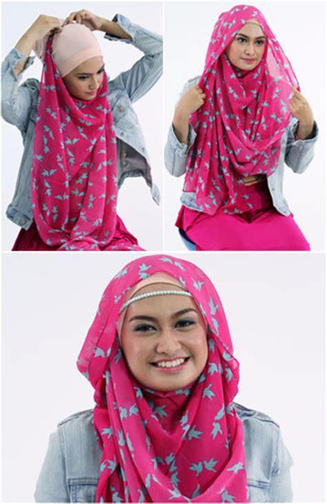 tutorial dandan yang simple tutorial memakai hijab pashmina yang simple untuk sehari hari