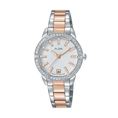 Alba Ary96g Jam Tangan Wanita Gold jual alba ag8h03x1 jam tangan wanita silver rosegold