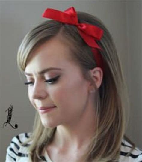 ribbon hairstyles 15 incredibly easy hairstyles with a ribbon for every day