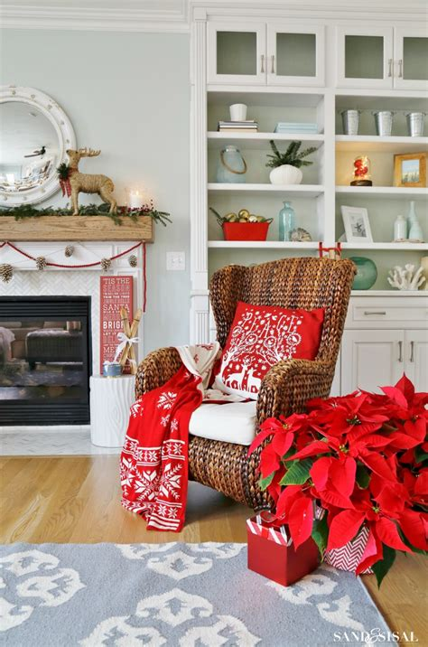 Stores Similar To Ballard Designs winterberry red white and blue christmas family room